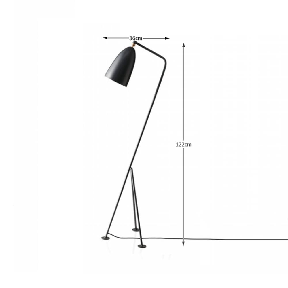 Állólámpa, szürke fém,  CINDA TIP 25 YF6250-G
