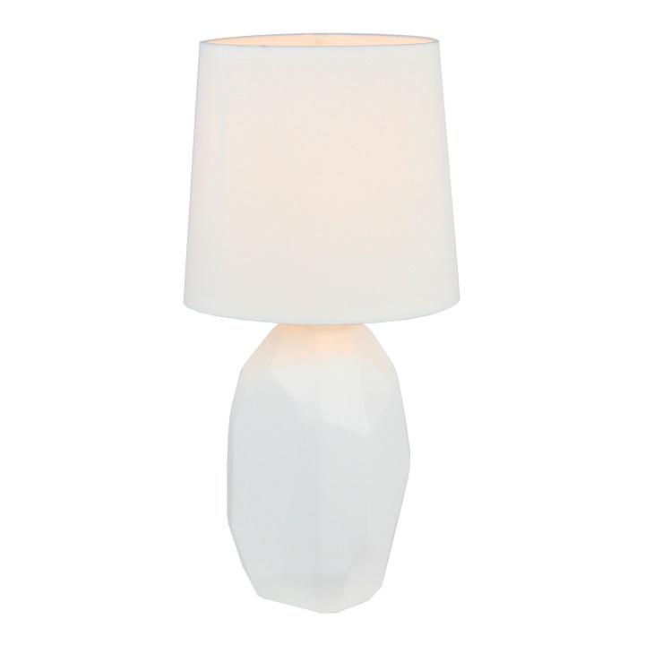 Lampă ceramică de masă, alb, QENNY TYP 1 AT15556
