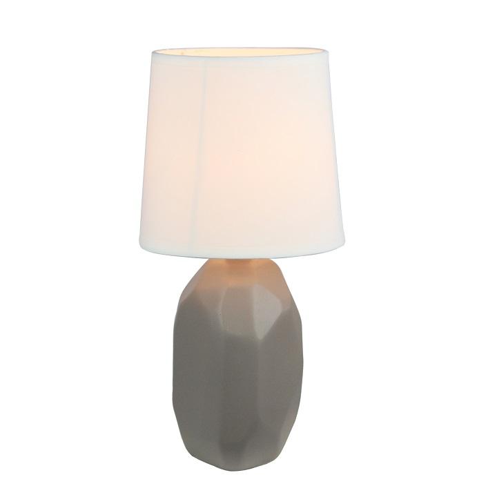 Keramická stolná lampa, hnedá taupe, QENNY TYP 3