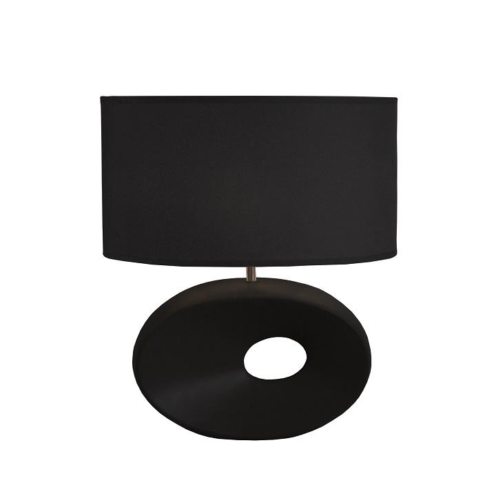 Lampă pe picior ceramică, negru, QENNY TYP 10 AT09115