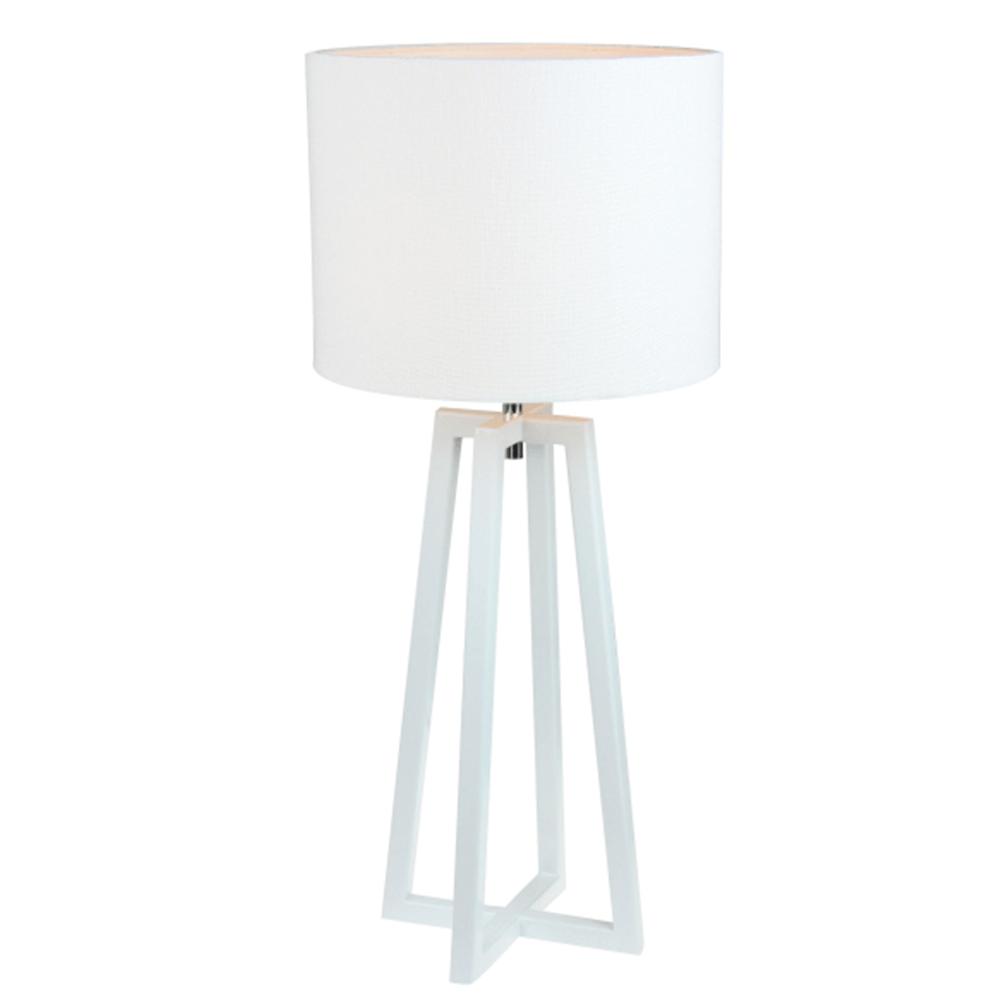 Asztali lámpa, fehér, QENNY 14