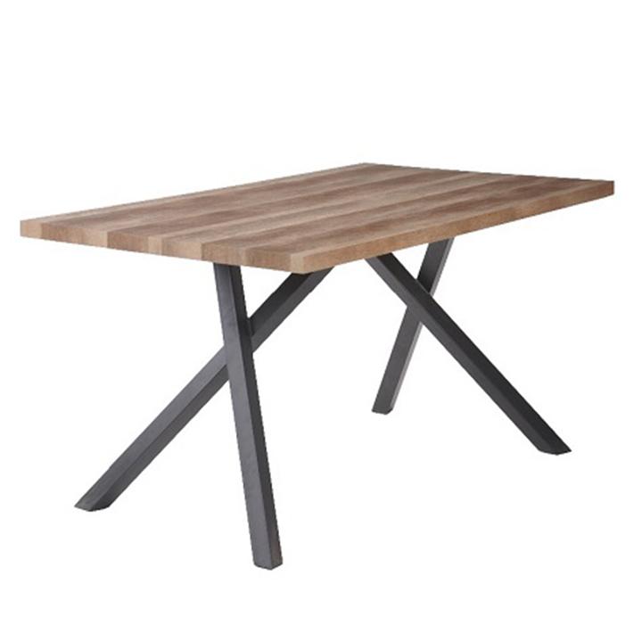 Jedálenský stôl, svetlá slivka/čierna, na bielom pozadí, GURDUN