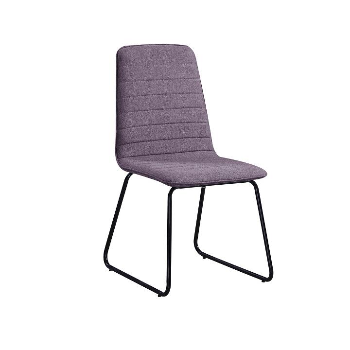 Jedálenská stolička, fialová látka/čierny kov, DANUTA