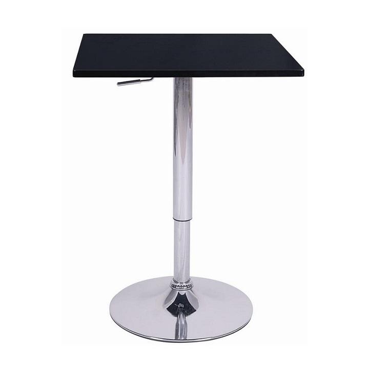 Barový stôl s nastaviteľnou výškou, čierna, FLORIAN