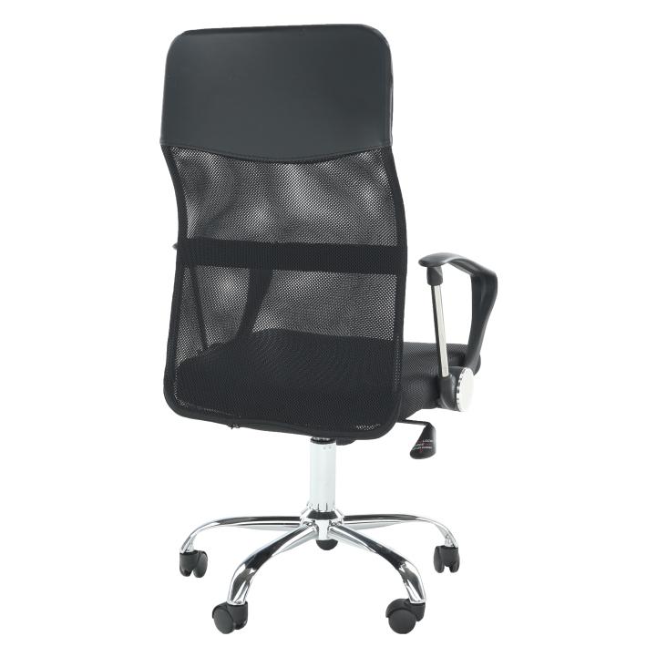Kancelárske kreslo, čierna, TC3-973M 2 NEW - zadná strana