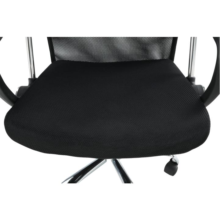 Kancelárske kreslo, čierna, TC3-973M 2 NEW - detail sedacia časť
