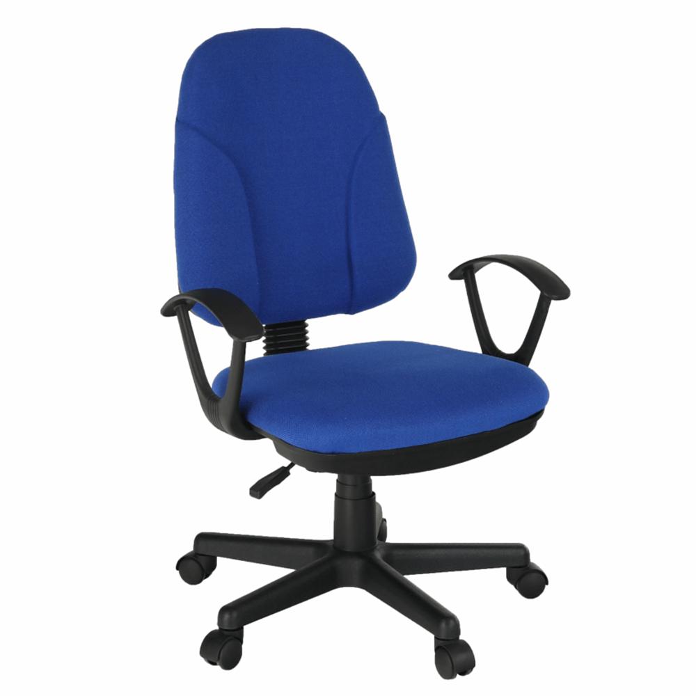 Scaun birou, material albastru, DEVRI