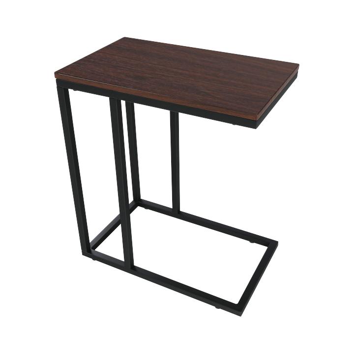 Príručný stolík, čierna/orech, CARTER