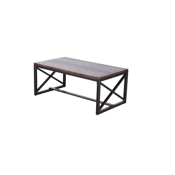 Konferenčný stolík, orech/čierna, EBAN