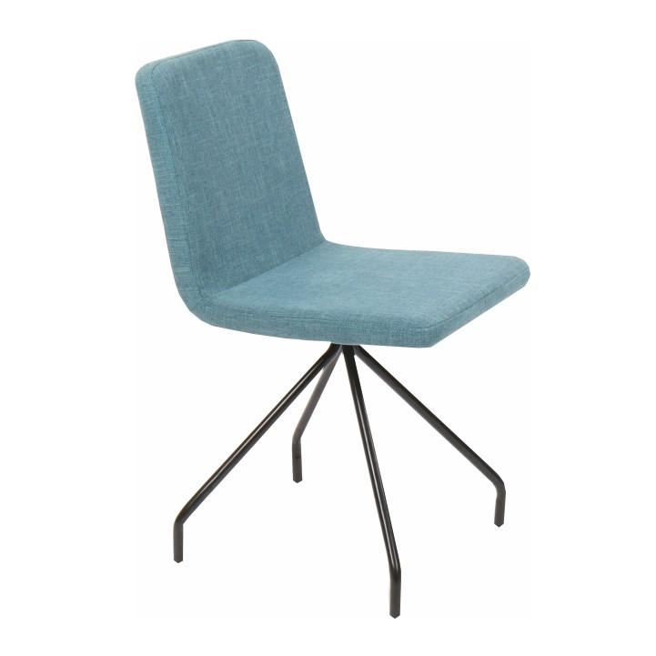 Jedálenská stolička, mentolová/čierna, TALIP, na bielom pozadí