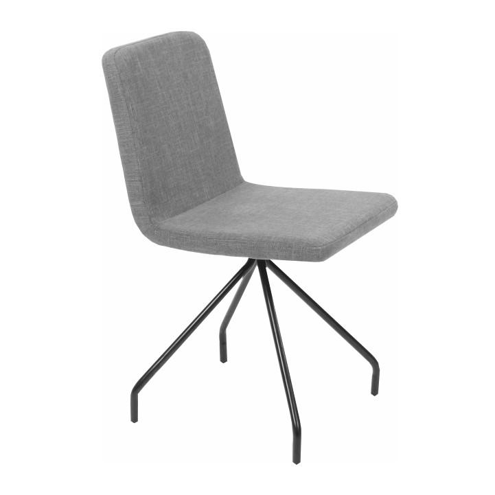 Jedálenská stolička, sivá/čierna, TALIP, na bielom pozadí