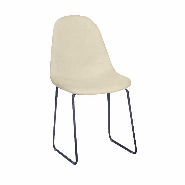 Jedálenská stolička, biela-smotanová/čierna, ARUN