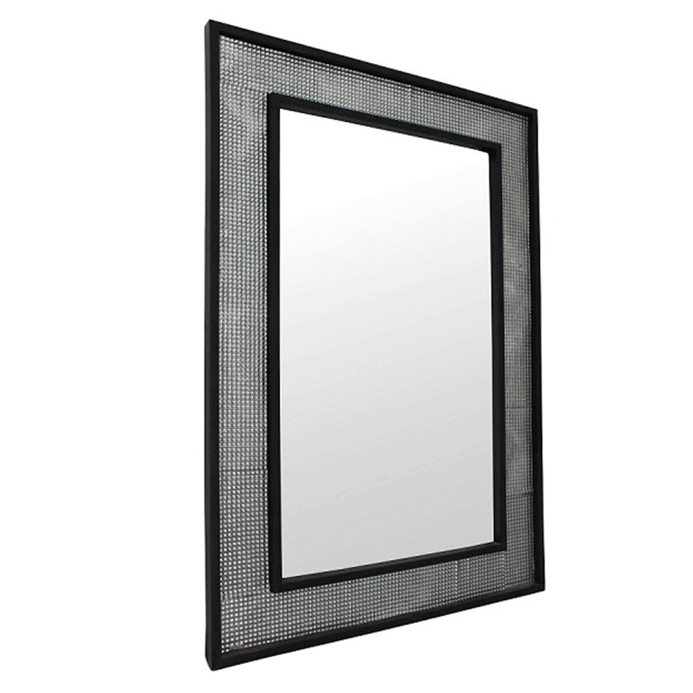 Tükör, ezüst/fekete, ELISON TIP 9