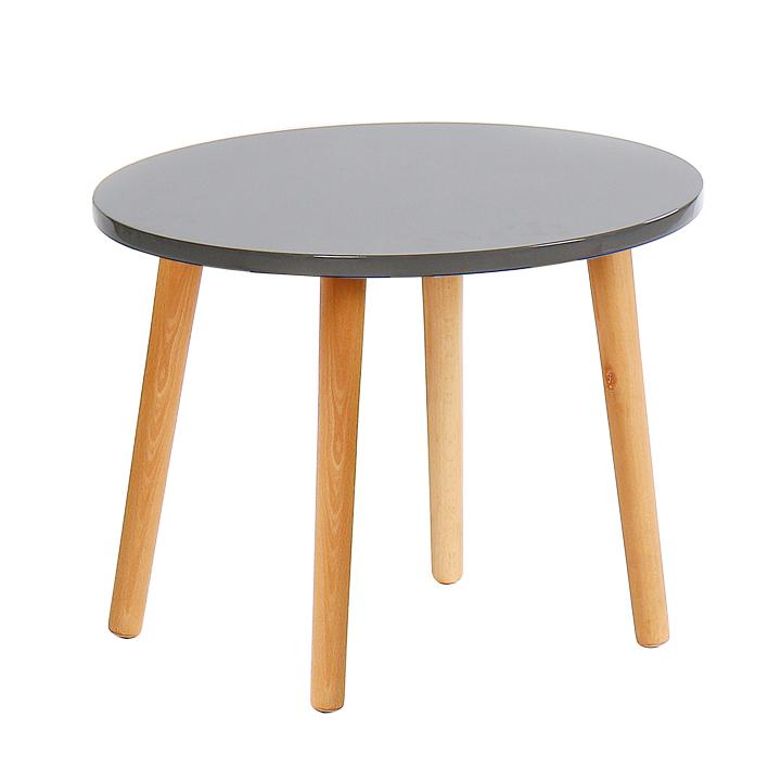 Príručný stolík, sivá/natural, BAZZY 2