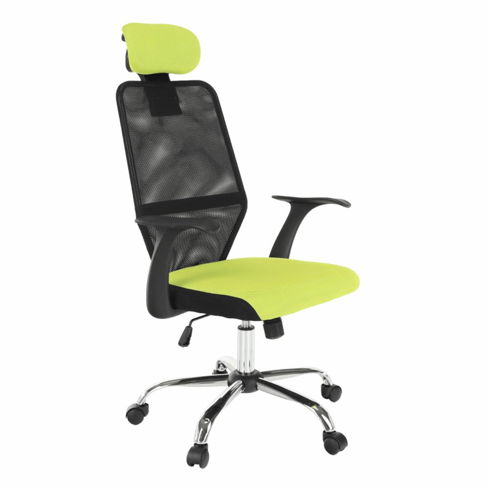Scaun de birou, negru/verde, REYES NEW