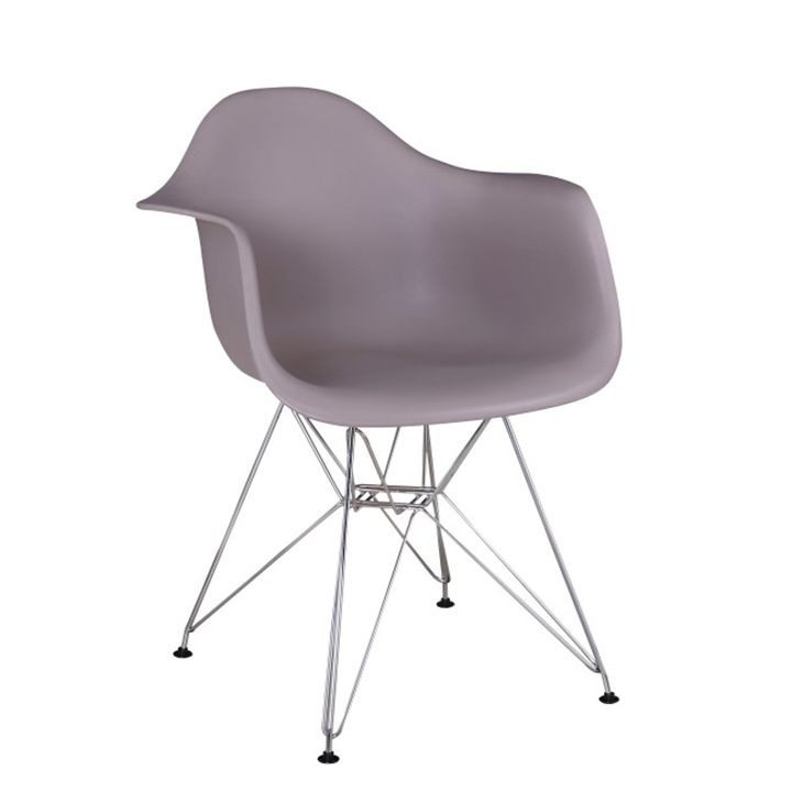 Fotel, meleg szürke/króm,FEMAN 2 NEW