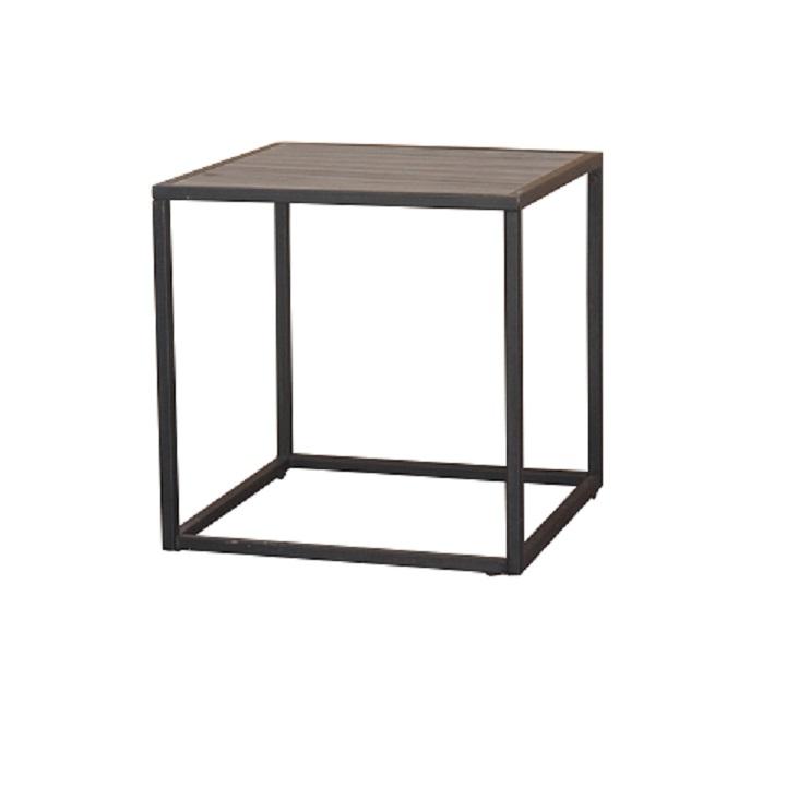 Príručný stolík, dub/čierna, na bielom pozadí, JAKIM TYP 1