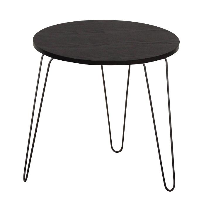 Príručný stolík, čierny dub/čierna, RONIN, na bielom pozadí