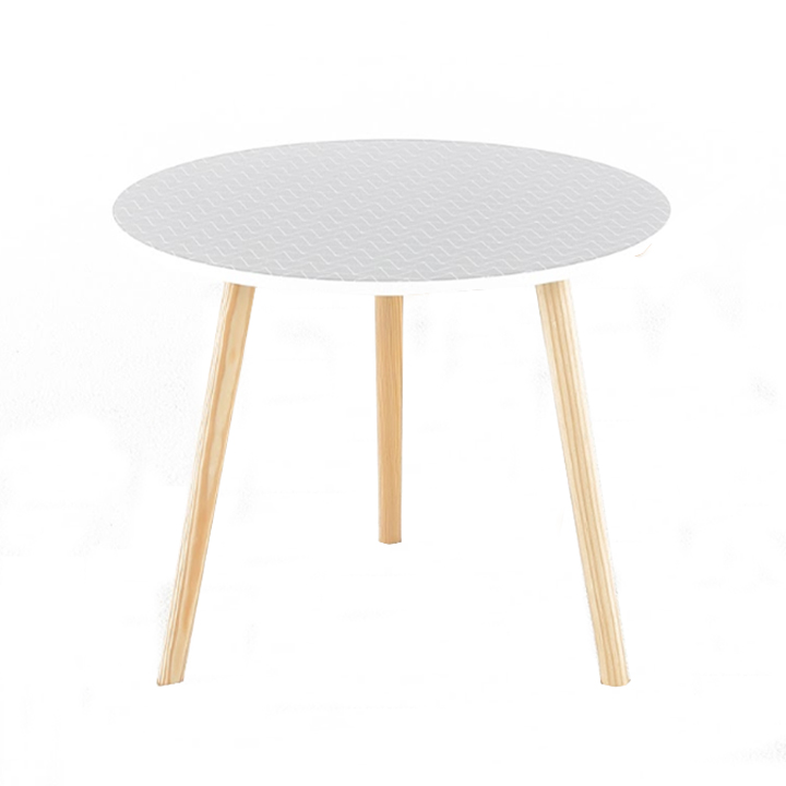 Príručný stolík, sivá/nohy prírodná, na bielom pozadí, HANSON