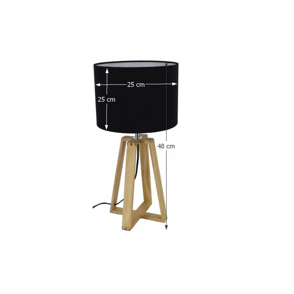 Asztali lámpa, fekete, JADE TYP 3 6033-15B