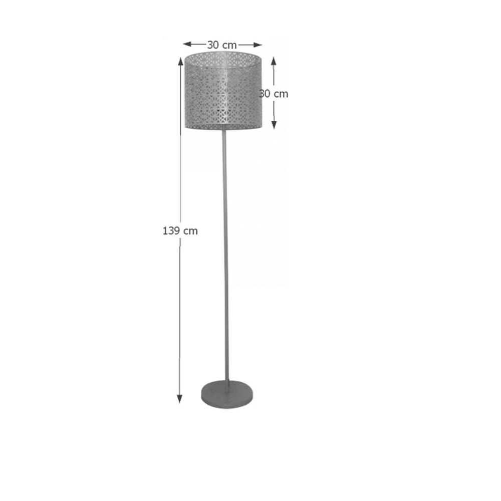 Állólámpa, szürke, JADE TYP 9 8095-32