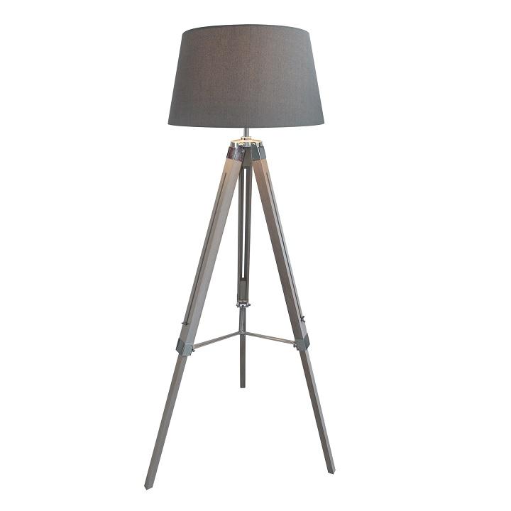 Stojacia lampa, sivá, na bielom pozadí, JADE TYP 11 8008-39