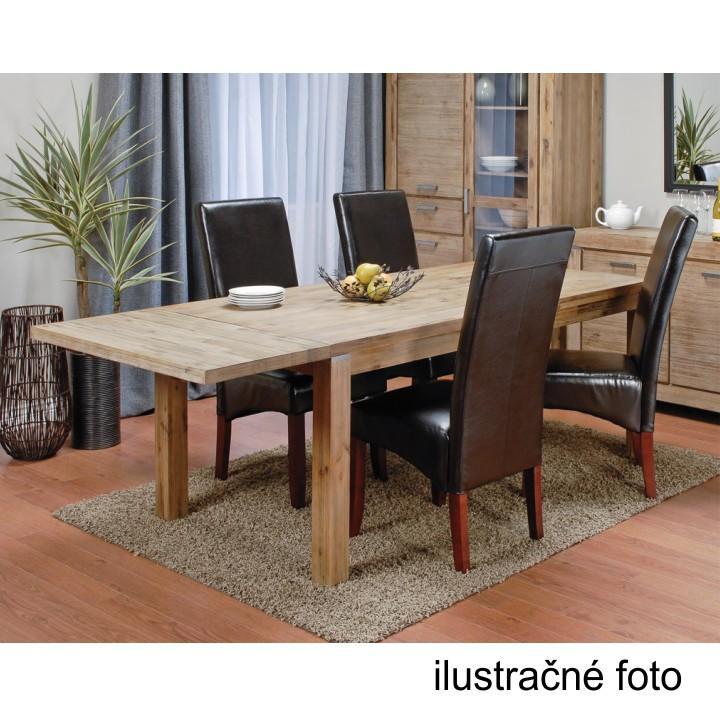 Jedálenská stolička, biela/tmavý orech, ilustračná fotka interiéru, JUDY 2 NEW