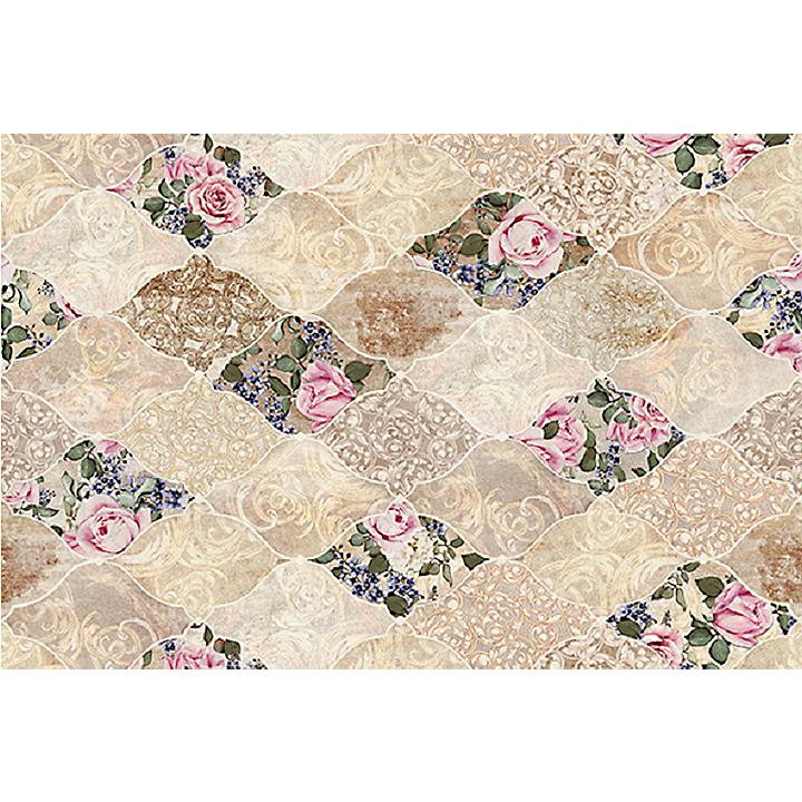 Koberec, viacfarebný,  kvetinový vzor, 100% polyester, 80x200, TRIXY