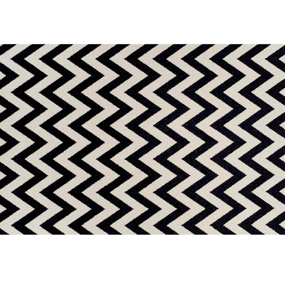 Szőnyeg, elefántcsont/sötétszürke, 67x120, ADISA
