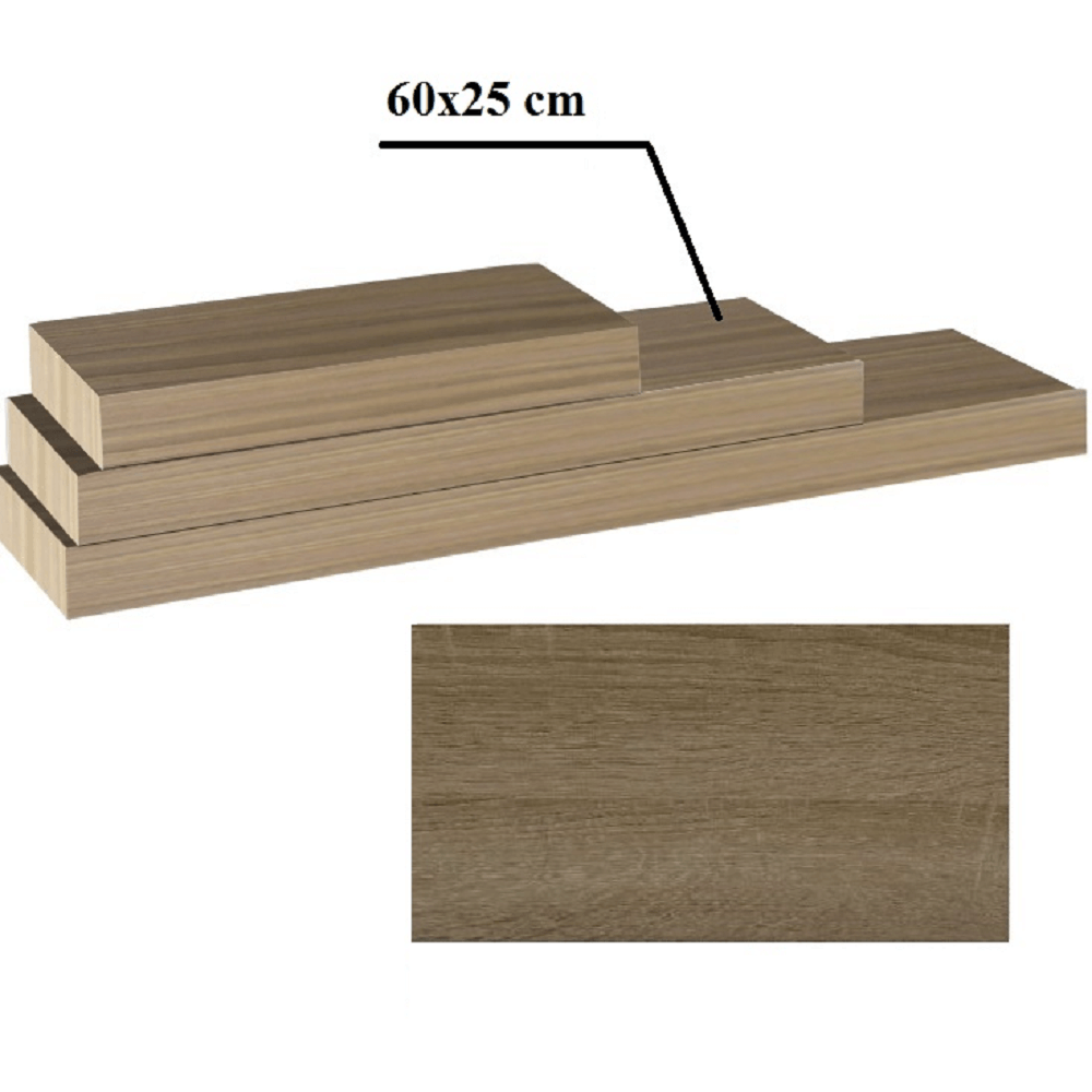 Polc, tölgy trufla, 60x25, GANA FY 11044-3 60
