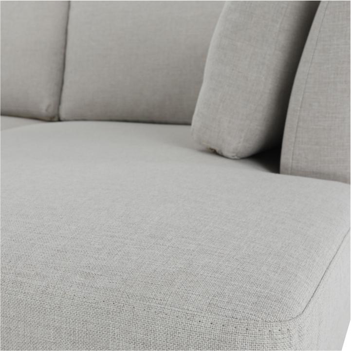 Rohová sedacia súprava, pravá, béžová, detail na materiál, farbu, LIVONA 2