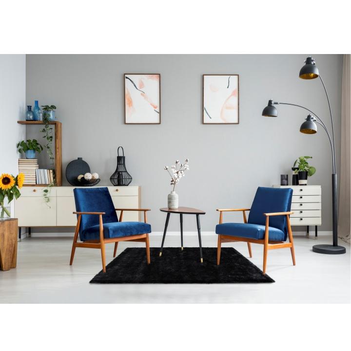Koberec, sivá, 140x200, koberec v interiéri, DELLA