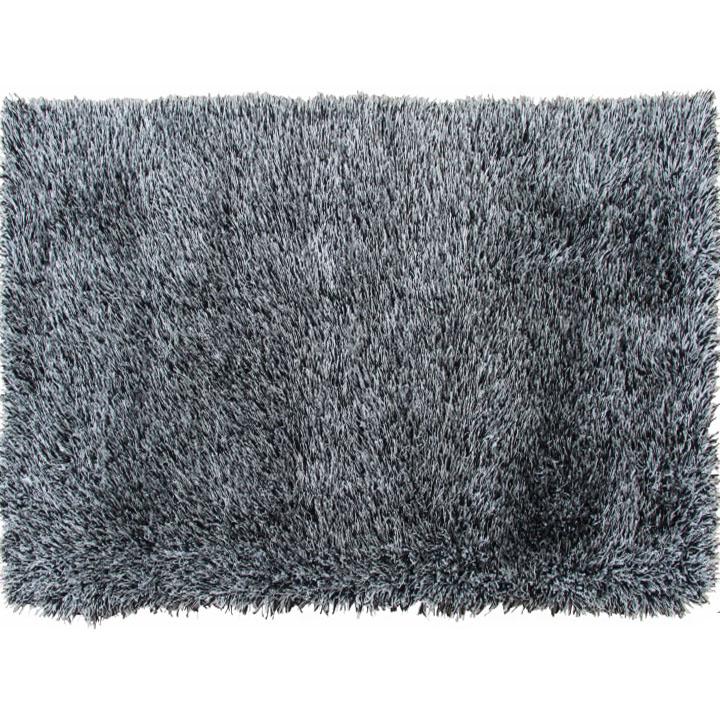 Koberec, krémovo-čierna, 140x200, 100% polyester,  VILAN