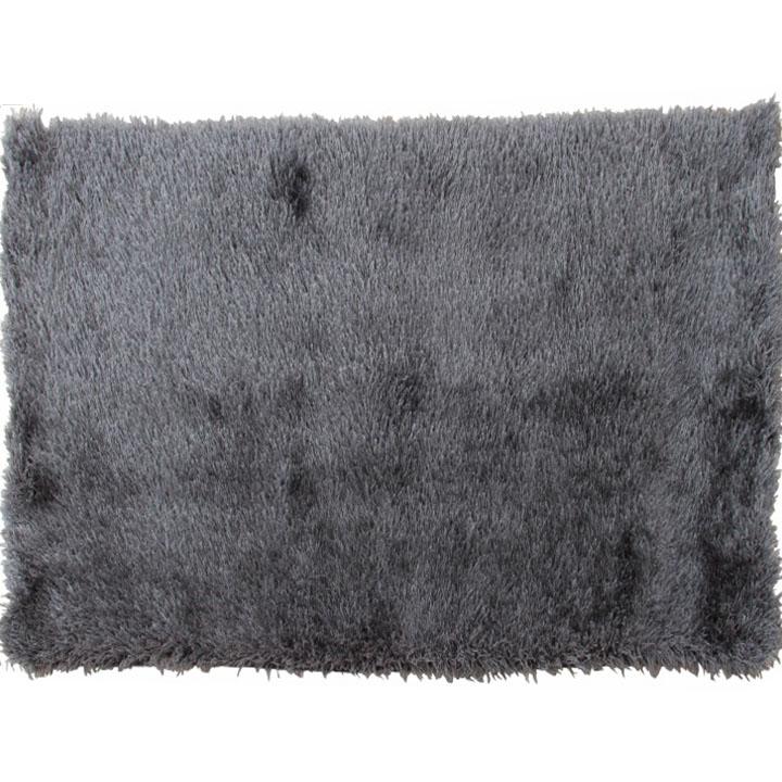 Koberec, sivý, 140x200, 100% polyester,  KAVALA