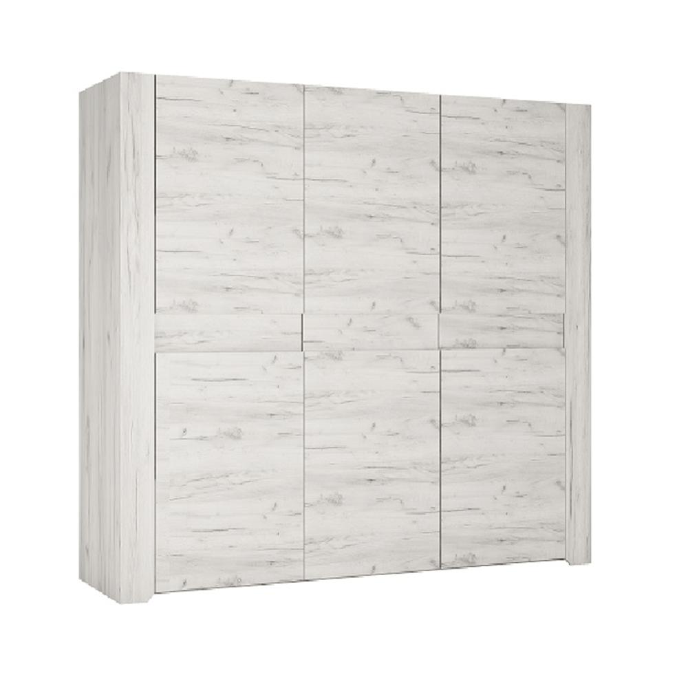 Dulap TIP 22 3D cu 3 uşi, alb, ANGEL