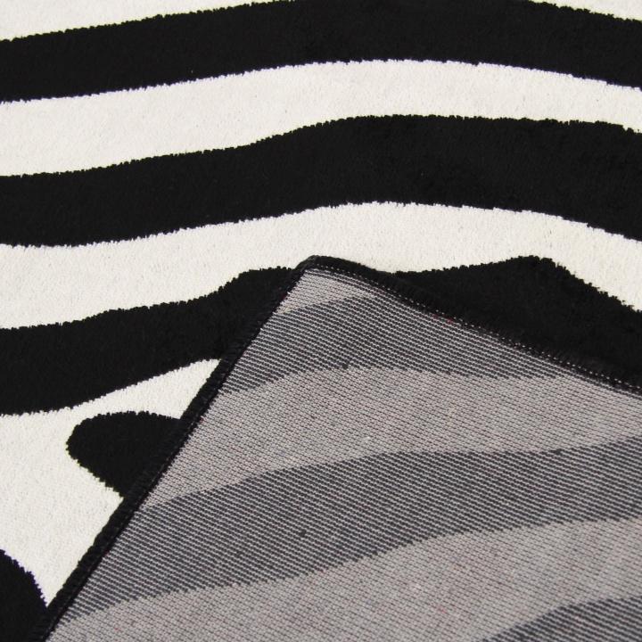 ARWEN koberec 40x60 cm v prevedeni vzor zebra, 100% viskóza, zadná strana koberca
