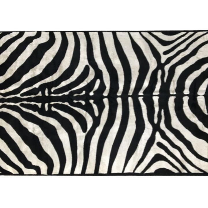 Koberec, vzor zebra, 100%viskóza 100x140, ARWEN