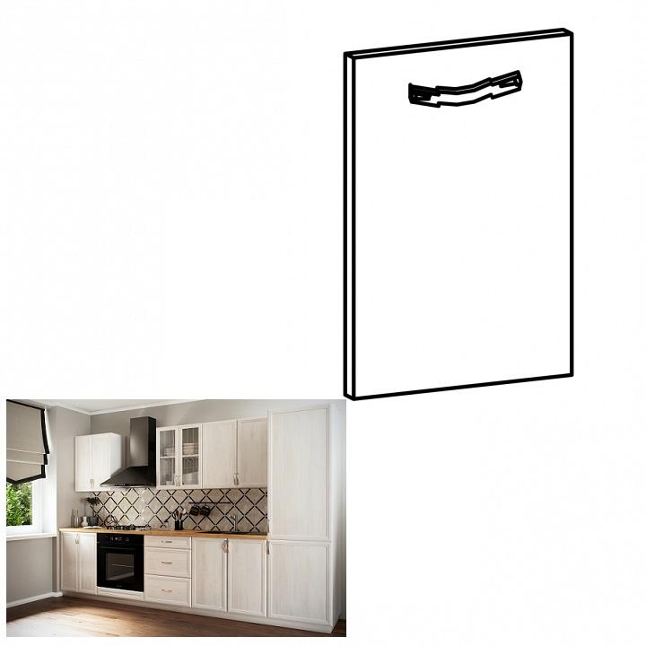 Dvierka na vstavanú umývačku riadu, 59,6x57, sosna Andersen, SICILIA, na bielom pozadí
