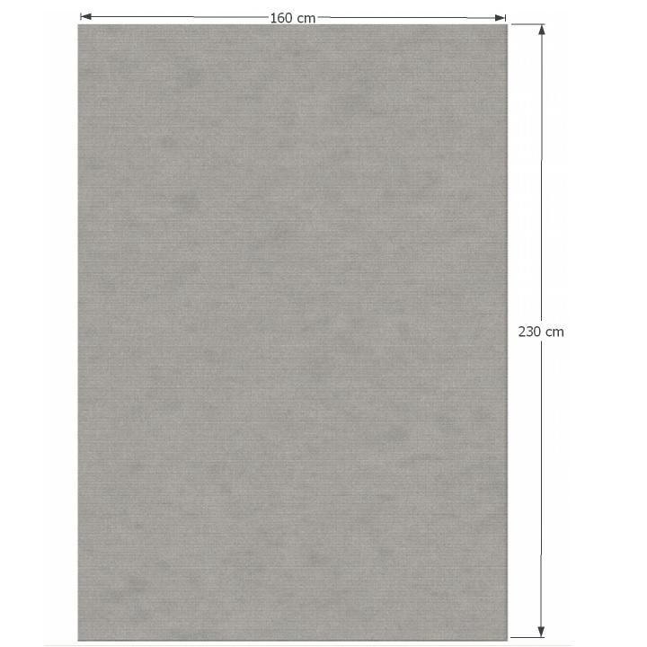 Koberec, sivá, 160x230, s rozmermi, FRODO