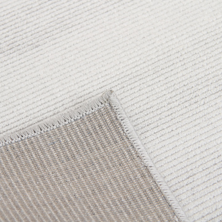 Koberec, sivá, 160x230, zadná strana koberca, FRODO