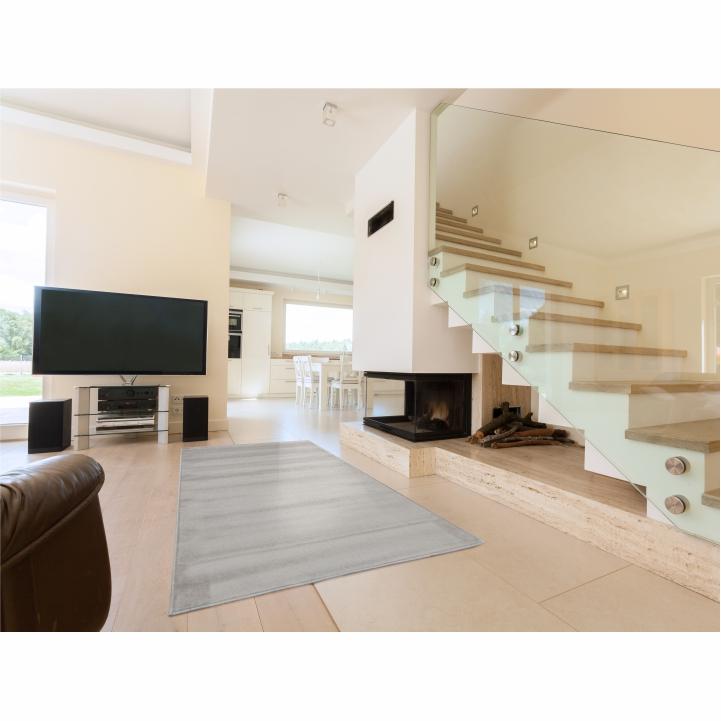 Koberec, sivá, 160x230, interiérová fotka koberca, FRODO