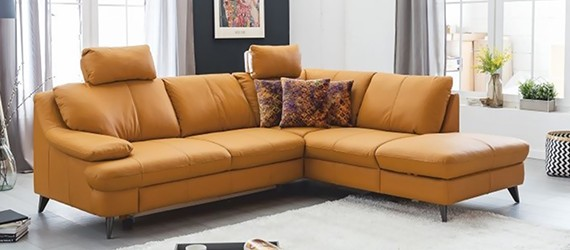 Canapele din piele - Alb