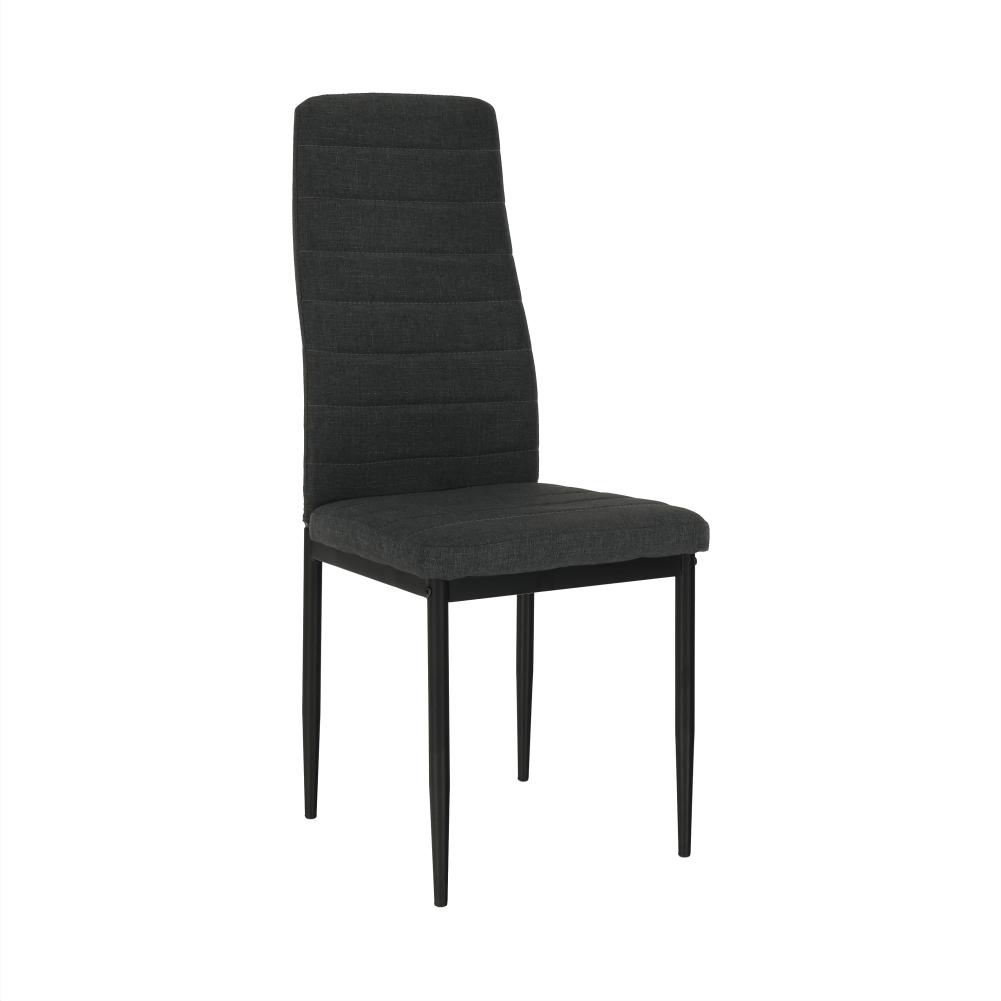 Scaun, textil gri închis/metal negru, COLETA NOVA