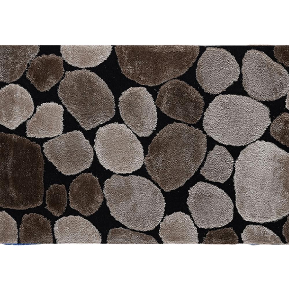 Szőnyeg, barna/fekete, 170x240 , PEBBLE TYP 2
