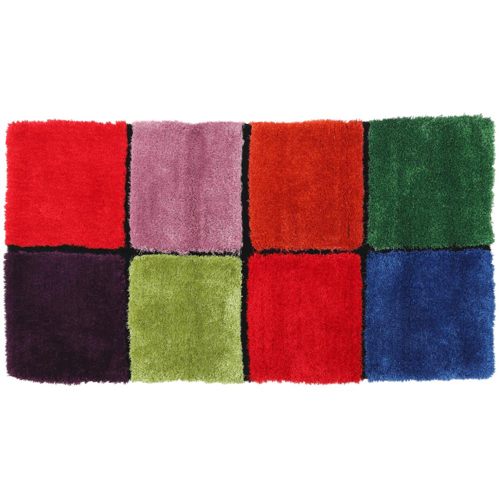 Szőnyeg, piros/zöld/sárga/lila, 80x150, LUDVIG TYP 4