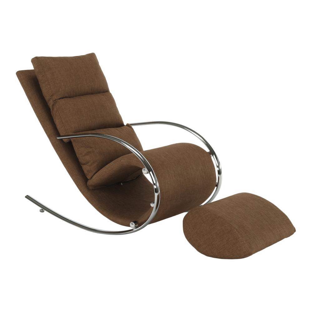 Scaun balansoar, material maro/metal, ROGER