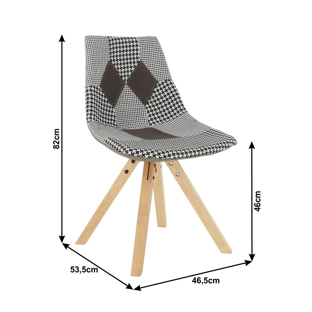 Dizájnos szék, szövet patchwork, PEPITO NEW TYP 10