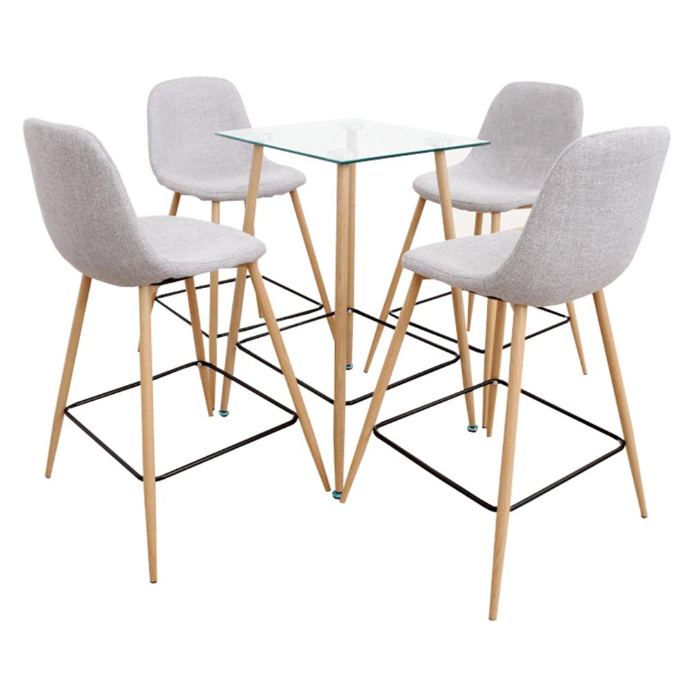 Étkezőgarnitúra asztal/négy szék, DAMAN
