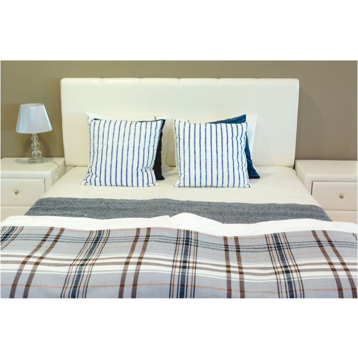 Nočný stolík, ekokoža biela, interiérová fotka, FANTASY NEW