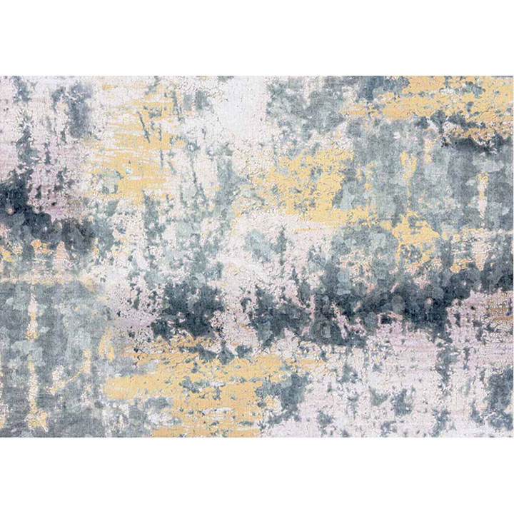 Koberec, sivá/žltá, 160x230, pohľad z hora, MARION TYP 1